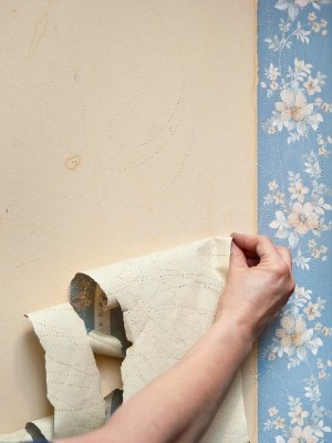 Wallpaper removal in Methuen, Massachusetts by Fine Line Painting.