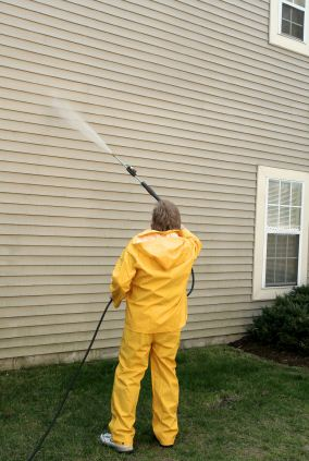 Pressure washing in Nutting Lake, MA by Fine Line Painting.